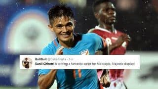 India vs Kenya Intercontinental Cup 2018 Finals: Twitterati Hail Indian Captain Sunil Chhetri After His Two Goals, Equals Lionel Messi