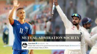 Sunil Chettri to Play in His 100th International, Virat Kohli Backs Sunil Chettri With a Message --WATCH