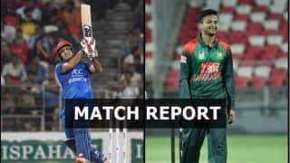 Afghanistan vs Bangladesh 3rd T20I Match Report: Rashid, Mujeeb, Nabi's Bowling Helps Afghanistan Beat Bangladesh by 1 Run