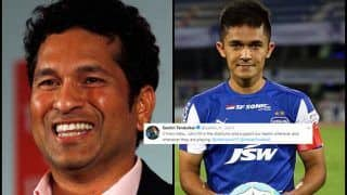 Sunil Chhetri's Response to Sachin Tendulkar's Tweet: 'Can't thank enough'