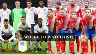 England vs Costa Rica FIFA International Friendly Live Streaming: When And Where to Watch on TV (IST)