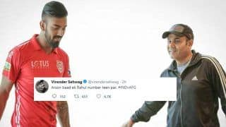India vs Afghanistan One-Off Test: Virender Sehwag's Tweet on KL Rahul Batting at 3 in Rahul Dravid's Position Has Fetched 600+ RT's in 60 Minutes