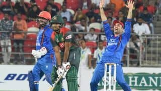 Afghanistan vs Bangladesh 2nd T20I Match Report: Rashid Khan Rips Bangladesh With 4 Wickets to Beat Bangladesh by 6 Wickets And Win Series 2-0