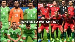 Portugal vs Algeria FIFA International Friendly Live Streaming: When And Where to Watch on TV (IST)
