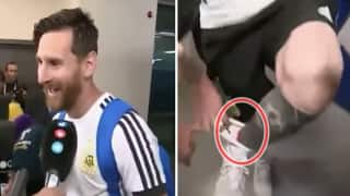 FIFA World Cup 2018: Argentina Star Lionel Messi REVEALS Truth Behind Ribbon in His Boots Given by Journalist, Wins Hearts Instantly -- WATCH