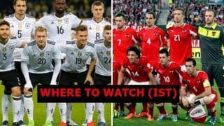 Germany vs Austria FIFA International Friendly Live Streaming: When And Where to Watch on TV Listings (IST)
