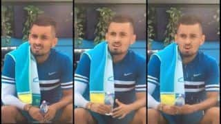 Australia's Nick Kyrgios Simulates Masturbation With Water Bottle Gets Fined 15,000 Euros by ATP