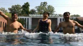 Bhojpuri Actors Nirahua, Ravi Kishan and Amrapali Dubey Beat The Heat in Swimming Pool (Watch)