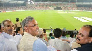 देहरादून में हुआ पहला अंतरराष्ट्रीय T-20 क्रिकेट मैच, मैच देखने पहुंचे सीएम