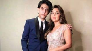 Gauri Khan and Aryan Khan Attend the Akash Ambani - Shloka Mehta Engagement Party