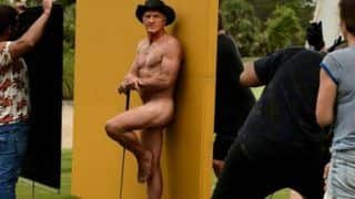 Greg Norman: Golf Legend Poses Naked With Clubs And Toy Shark For Latest Edition of ESPN's The Body Issue