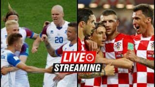 Iceland vs Croatia FIFA World Cup 2018 Match 40 Live Streaming: When And Where To Watch on TV (IST)
