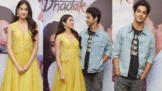 Janhvi Kapoor Looks Bright And Beautiful as She Kickstarts The Promotions of Dhadak With Ishaan Khatter - See Pics