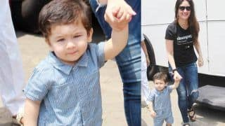 Taimur Ali Khan Accompanies Mommy Kareena Kapoor Khan To Work - See Pics