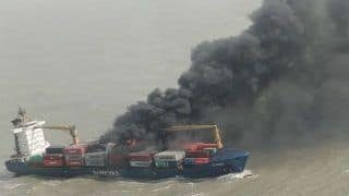 Merchant Vessel SSL Kolkata Catches Fire; 11 Crew Members Rescued, Rescue Operations Underway