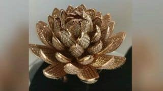 Surat Jeweller Sets Guinness record with Lotus-shaped Ring Consisting 6690 diamonds