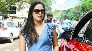 Mira Rajput Flaunts Her Baby Bump in a Lovely Denim Dress - See Pictures