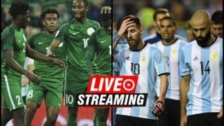 Nigeria vs Argentina FIFA World Cup 2018 Match 39 Live Streaming: When And Where To Watch on TV (IST)
