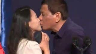 Philippine President Rodrigo Duterte Kisses Filipino Woman on Lips During an Event in South Korea; Stirs Controversy