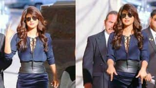 Priyanka Chopra Spotted Looking Gorgeous in a Navy Number