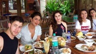 Priyanka Chopra, Nick Jonas and Parineeti Chopra Enjoy a Hearty Meal in Goa With Friends - See Pic