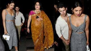 Priyanka Chopra And Nick Jonas Walk Hand-In-Hand in Mumbai as They Step Out For Dinner With Madhu Chopra - Pics