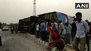 यूपी: मैनपुरी के पास बस पलटने से 17 लोगों की मौत, 35 से ज्यादा घायल