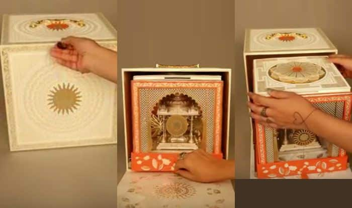 Akash ambani and shloka mehta wedding invitation card looks akash ambani and shloka mehta wedding invitation card looks mesmerising check out stopboris Images