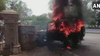 इलाहाबाद यूनिवर्सिटी: हॉस्टल खाली कराने के विरोध में छात्रों ने किया हंगामा, आगजनी-तोड़फोड़