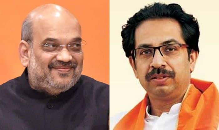 You don't need Hindutvavadis, Sena Attacks BJP After Amit Shah And CM Fadnavis Ask Party Workers to Get Ready For Solo Battle in Maharashtra