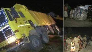 UP के हरदोई में बड़ा हादसा: डंपर- ट्रैक्टर की टक्कर में 7 लोगों की मौत, 7 घायल