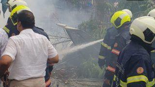 Mumbai: Five Killed as Chartered Plane Crashes Into Construction Site in Ghatkopar; Suresh Prabhu Orders Probe