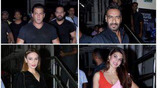 Race 3: Salman Khan,Iulia Vantur, Ajay Devgn, Varun Dhawan made stylish appearance at the screening; See Pictures
