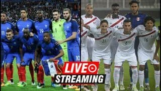 France vs Peru FIFA World Cup 2018 Match 22 Live Streaming: When And Where To Watch on TV (IST)