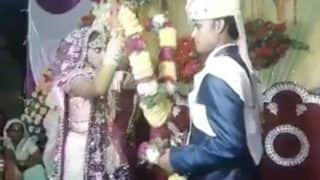 Groom 'Throws' Garland Around Bride's Neck During The Wedding; Video Goes Viral