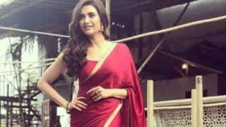 Naagin 2 Actress Karishma Tanna Looks Stunning in Red Saree, Check Drool Worthy Pictures