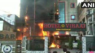 लखनऊ के दो होटल में लगी भीषण आग, पांच लोगों की मौत, कई झुलसे
