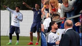 FIFA World Cup 2018: Lionel Messi Fans Flock To Argentine Open Practice In Russia