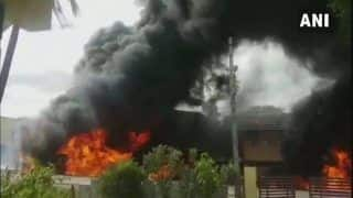 Karnataka: Two Injured as Petrol Tankers Catch Fire in Chikkamagaluru District