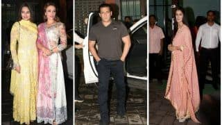 Eid 2018 : Salman Khan, Katrina Kaif, Iulia Vantur, Sonakshi Sinha, Attend Arpita Khan Sharma's Party in Style - View Pics