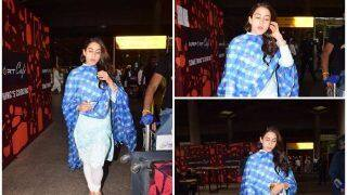 Sara Ali Khan Heads Back To Mumbai After Shooting For Simmba In Hyderabad - View Pics