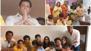 Salman Khan Waves At His Fans, Directs Family To Scream Eid Mubarak And Sings Happy Birthday For Sohail Khan's Son, Yohan - View Pics & Videos