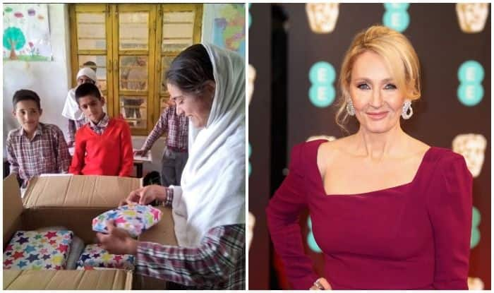Jk Rowling Gifts Kashmiri Student With Harry Potter Books And A  Jk Rowling Gifts Kashmiri Student With Harry Potter Books And A Personal  Note After Reading Touching Buy A Book Report On African American Struggle To Vote also After High School Essay  Synthesis Essay Topics