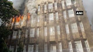 Fire at Mumbai's Scindia House Office Building: Five Stranded People Rescued