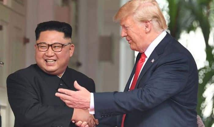 US President Donald Trump and North Korean leader Kim Jong Un during the Singapore Summit