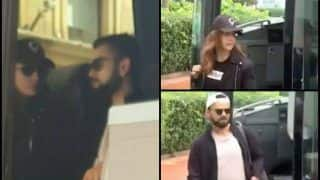 India vs England: Bollywood Actress Anushka Sharma Joins Husband Virat Kohli in Cardiff Ahead of 2nd T20I -- WATCH