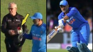 India vs England 3rd ODI: MS Dhoni Takes Match-Ball From Umpire After Match, Indicates he May Retire -- WATCH