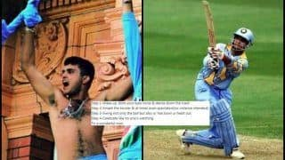 Happy Birthday Sourav Ganguly: Virender Sehwag's 4-Step Guide For Dada is Bang On!