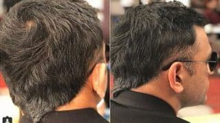 """MS Dhoni Flaunts New Hair Style, The Old """"V Hawk"""" is Back -- PICS"""