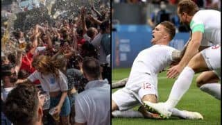 FIFA World Cup 2018: England vs Croatia -- Keiran Trippier Scores GOAL Of a Free-Kick, Fans Celebrate Wildly  -- WATCH